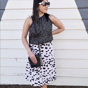 ***2PIECE BLOUSE AND SKIRT SET*** Spots and dots